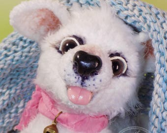 Knitted toy Lovely happy puppy Soft toy