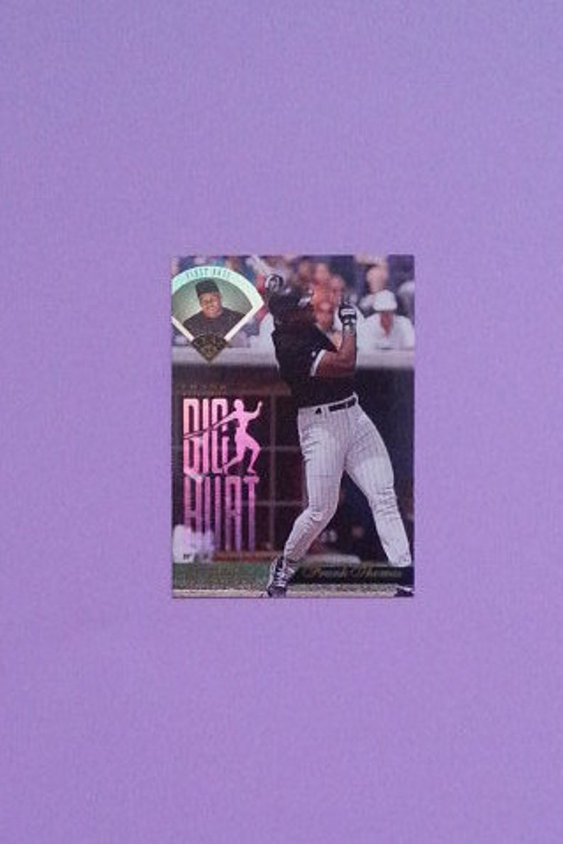 Frank Thomas The Big Hurt Special Edition 1995 Leaf Akklaim Card Chicago White Sox Mlb Cards Leaf Cards Vintage Baseball Cards Mnm