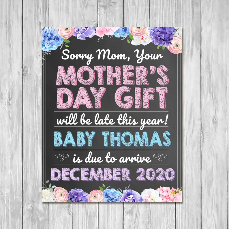 Pregnancy Announcement Sign - Mother's Day Gift - New Grandma Announcement Sign - Mother's Day Pregnancy Reveal Sign
