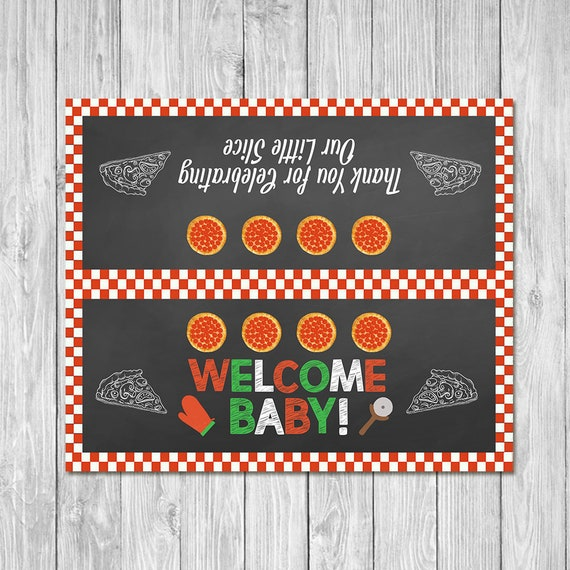 Pizza Party Baby Shower Favor Bag Topper Couples Baby Shower Etsy