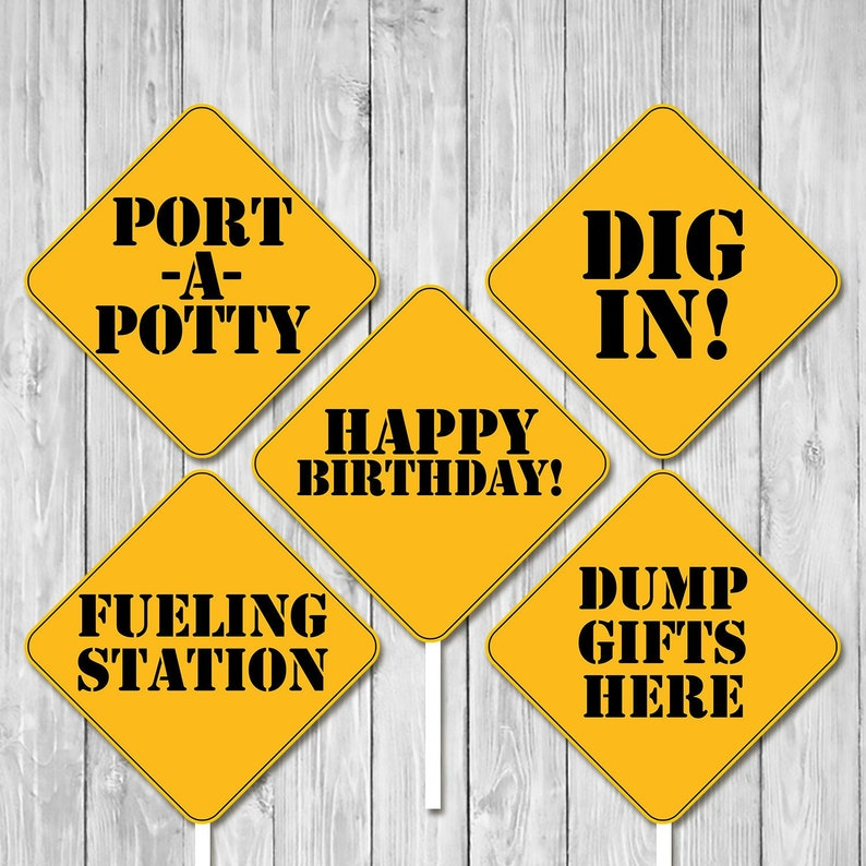 photo relating to Construction Signs Printable identified as Framework Birthday Centerpiece Symptoms Dump Truck Social gathering Signs or symptoms  Structure Builder Birthday Occasion Printables Initial Birthday 100862