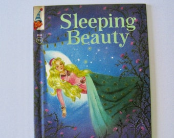 Sleeping Beauty. Rand McNally Elf Book 1959. Vintage collectible book fairy tale. classic children's story kid's book.