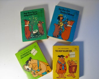 Your Choice vintage Young Adult miniature books. 1977 Ottenheimer press dist by Modern Promotions. Yogi Bear, Flintstones.