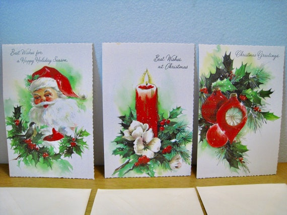 Vintage boxed greeting cards deluxe famous assorted cards by etsy image 0 m4hsunfo
