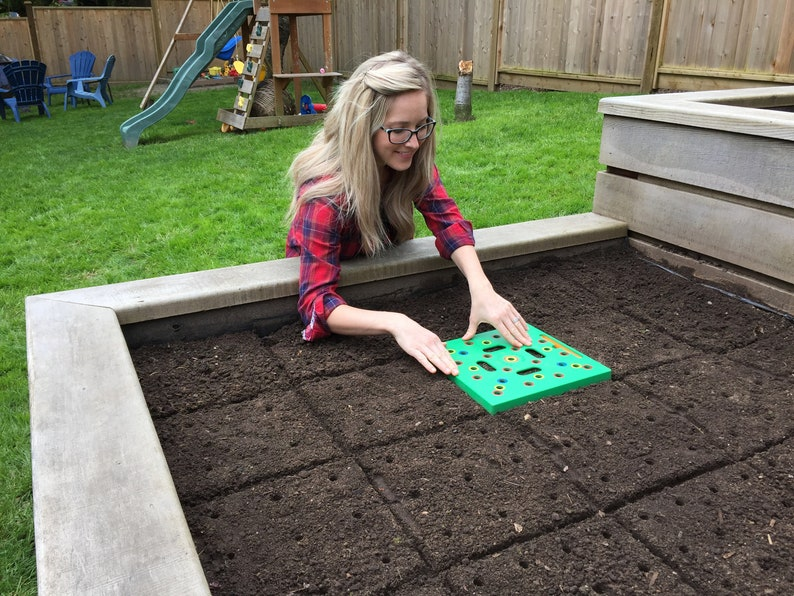 Seeding Square  Square Foot Gardening Seed-Sowing Template image 4
