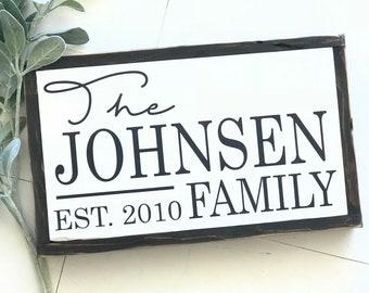 Family name- custom- established family name sign