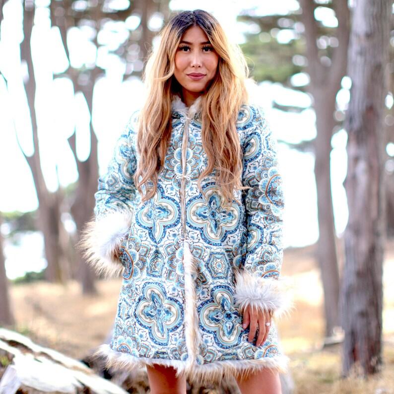 277b95cdb613 Festival Coat Faux Fur Coat Tribal Clothes Women Playa Wear