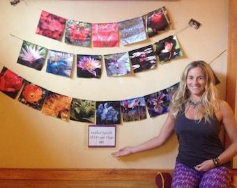 Prayer Flags , Handmade with Love, Satin