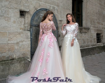 cd1f519f52e Long sleeve prom dress