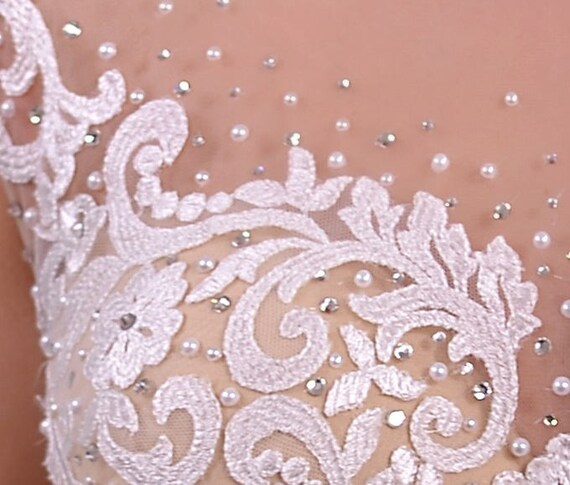 Linda Poshfair Wedding Illusion Dress Lace Nuage Volant Line A Satin raSrp