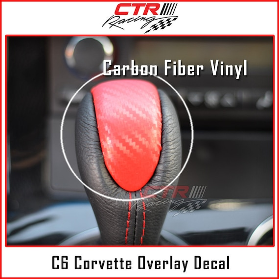 C6 Corvette Overlay Kit Bundle Decals Red Carbon Fiber 2005-2013