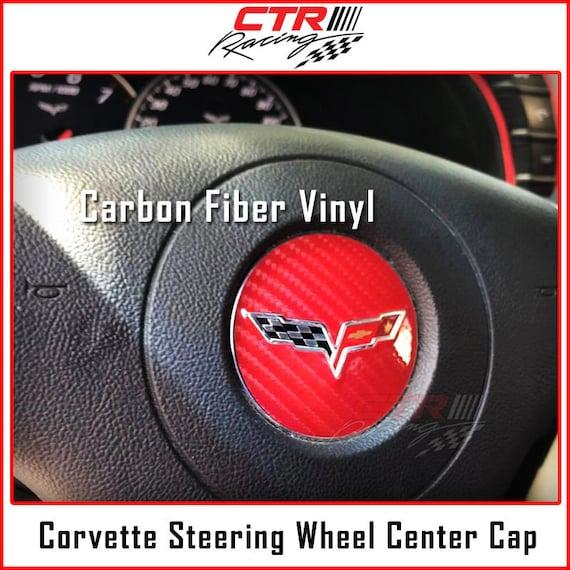 2005-2013 C6 Corvette Tail Lights Carbon Fiber Decal Overlay Vette Logo Emblem