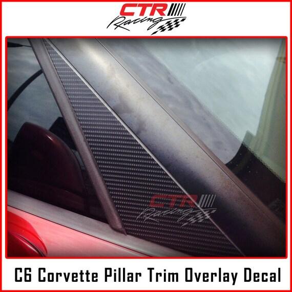 2017 HONDA CIVIC TYPE R Carbone pilier Vinyle Overlay Autocollant FK8 Autocollant