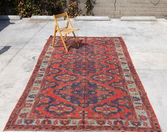 SUMACH Vintage Handmade Antique Persian Oriental Rug 11.4ft by 6.4ft 1920s(!)