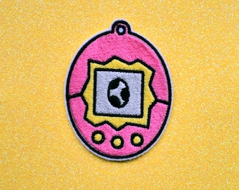 Kawaii Pet Owner Tamagotchi Cute Iron on Embroidered Patch Pocket Pet Accessory