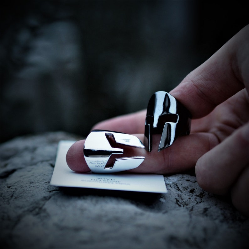 Spartan Ring - (Sterling Silver 925, Made in Italy )