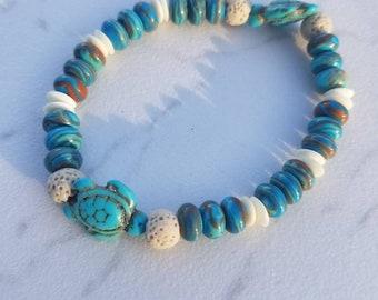Hawaiian Turtle Oil Diffuser Bracelet