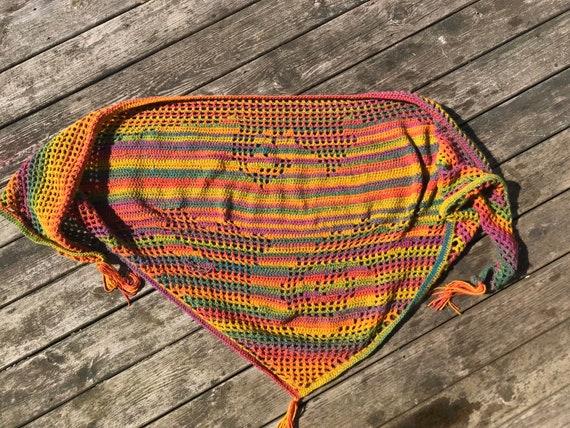 Crochet Dragon Shawl - Blanket Shawl