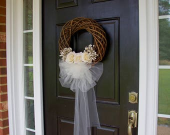 Delightful Wedding Wreaths, Wreaths, Bridal Wreath, Bridal Shower Gift, Wedding Decor,  Bride