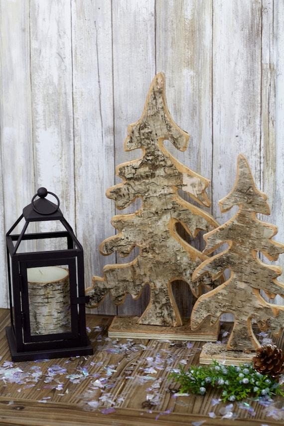 Wooden Tabletop Christmas Tree Rustic Christmas Natural Christmas Holiday Decor Mantel Christmas Decor Primitive Christmas