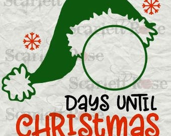 Days Until Christmas Svg Free.Christmas Countdown Svg Cutting File Clipart In Svg Jpeg Etsy