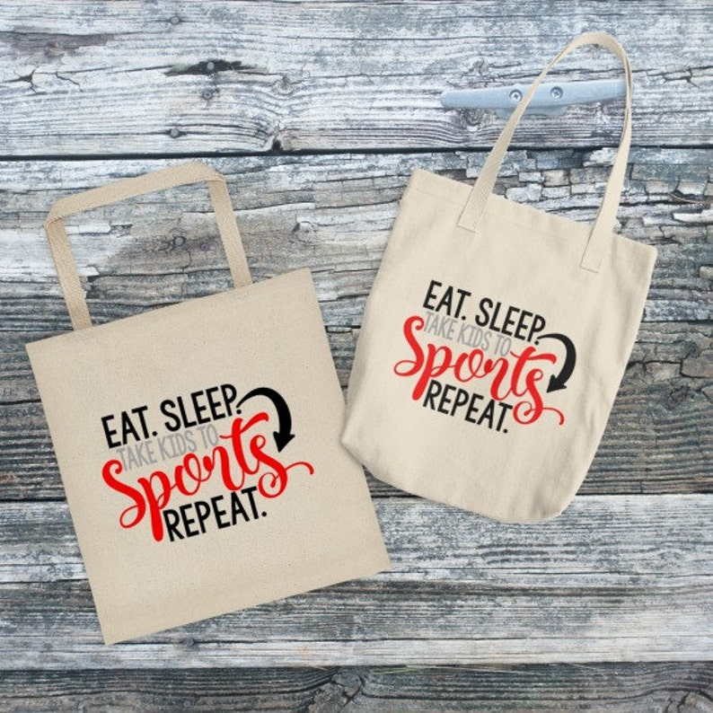 944e46807d603 Eat Sleep Take Kids To Sports Repeat, Canvas Tote Bag, Gifts For Mom, Mom  Tote Bag, Mom Tote, Mom Life Tote, Mothers Day Gift, Mothers Day