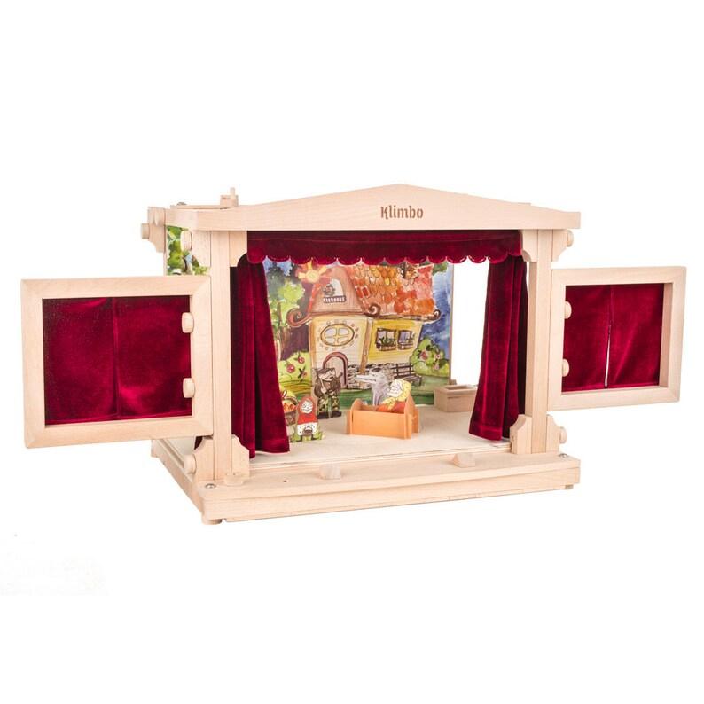Wooden toy puppet theater luxury gift art creativity image 0
