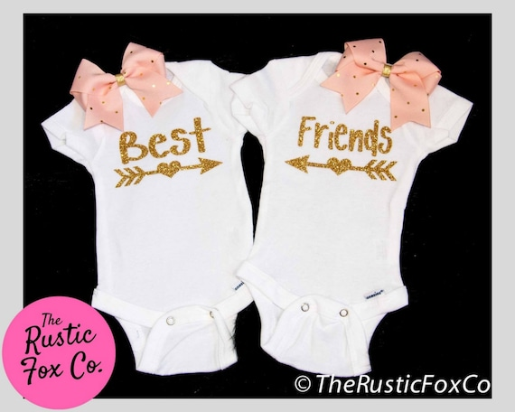 Girl Twins Best Friend Gift Best Friend Shirt Twin Baby Etsy