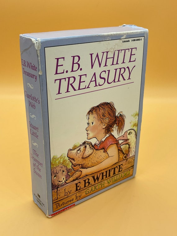 EB. White Treasury Set of 3 paperbacks in slipcase; Charlotte's Web, Stuart Little and The Trumpet of The Swan