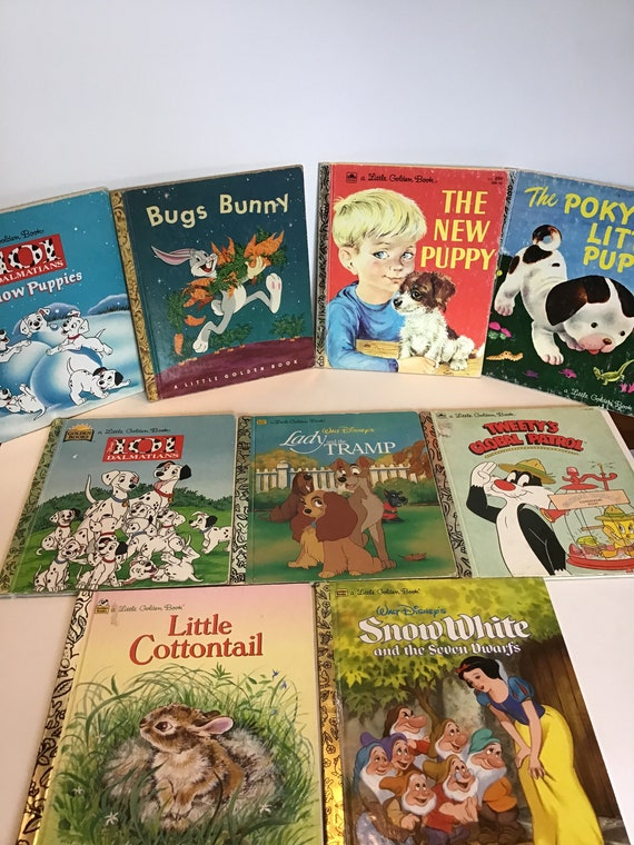 Lot of 10 Little Golden Books including Snow White, Bugs Bunny, Lady and The Tramp, 101 Dalmatians and more