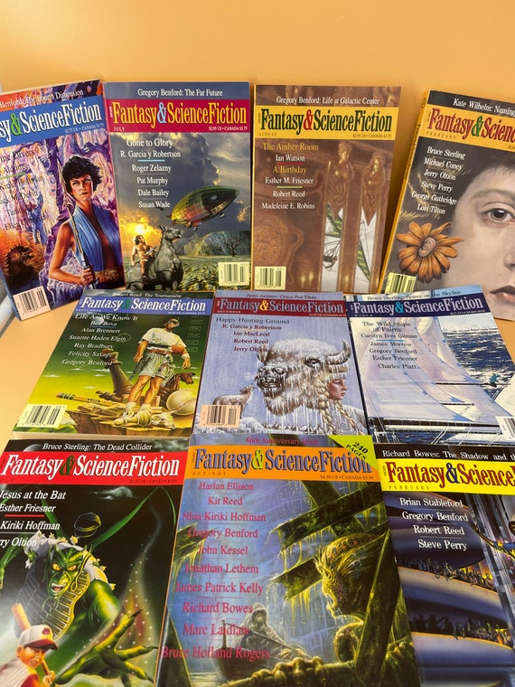 Set of 10 Fantasy & Science Fiction Magazine paperbacks from the 1990's (Set 1)