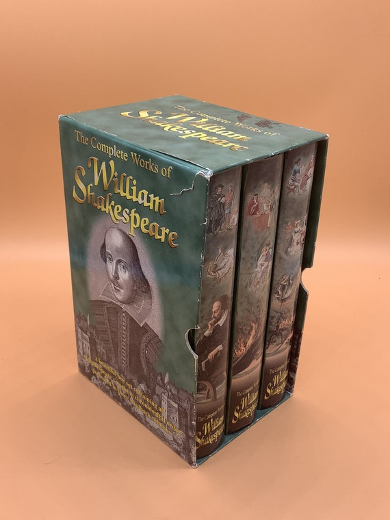 The Complete Works of William Shakespeare (hardcover 3 volume set in slipcase)