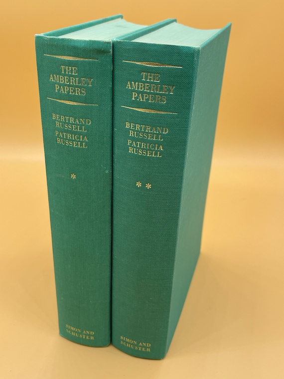 The Amberley Papers Bertrand Russell and Patricia Russell.  Two Volume Set
