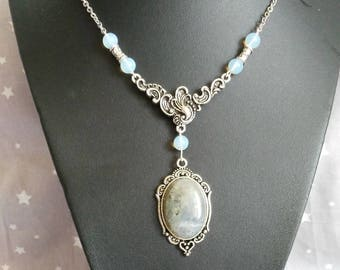 Vintage Moonstone and Labradorite necklace
