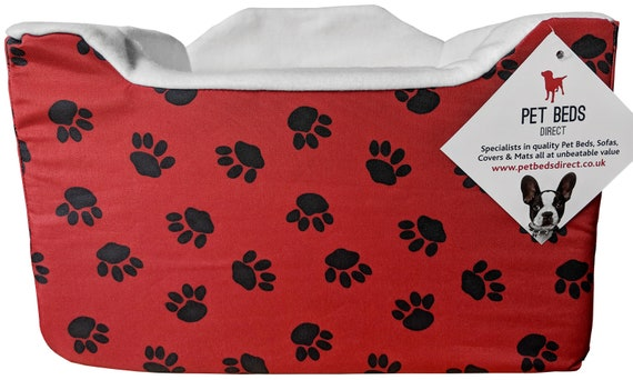 in Small /& Medium 6 Available Colours Small Dog Puppy Pet Soft Car Booster Safety Seat Travel Safe 32 x 42 x 42cm , Red