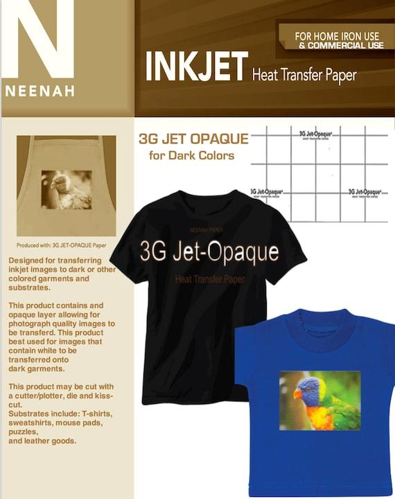 "20 SHEETS JET PRO SOFSTRETCH INKJET HEAT IRON ON TRANSFER PAPER 8.5 X 11/"""