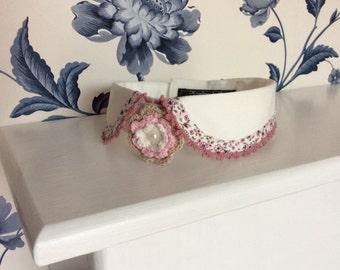 Beautiful Dog Wedding Attire, Attaches with Velcro