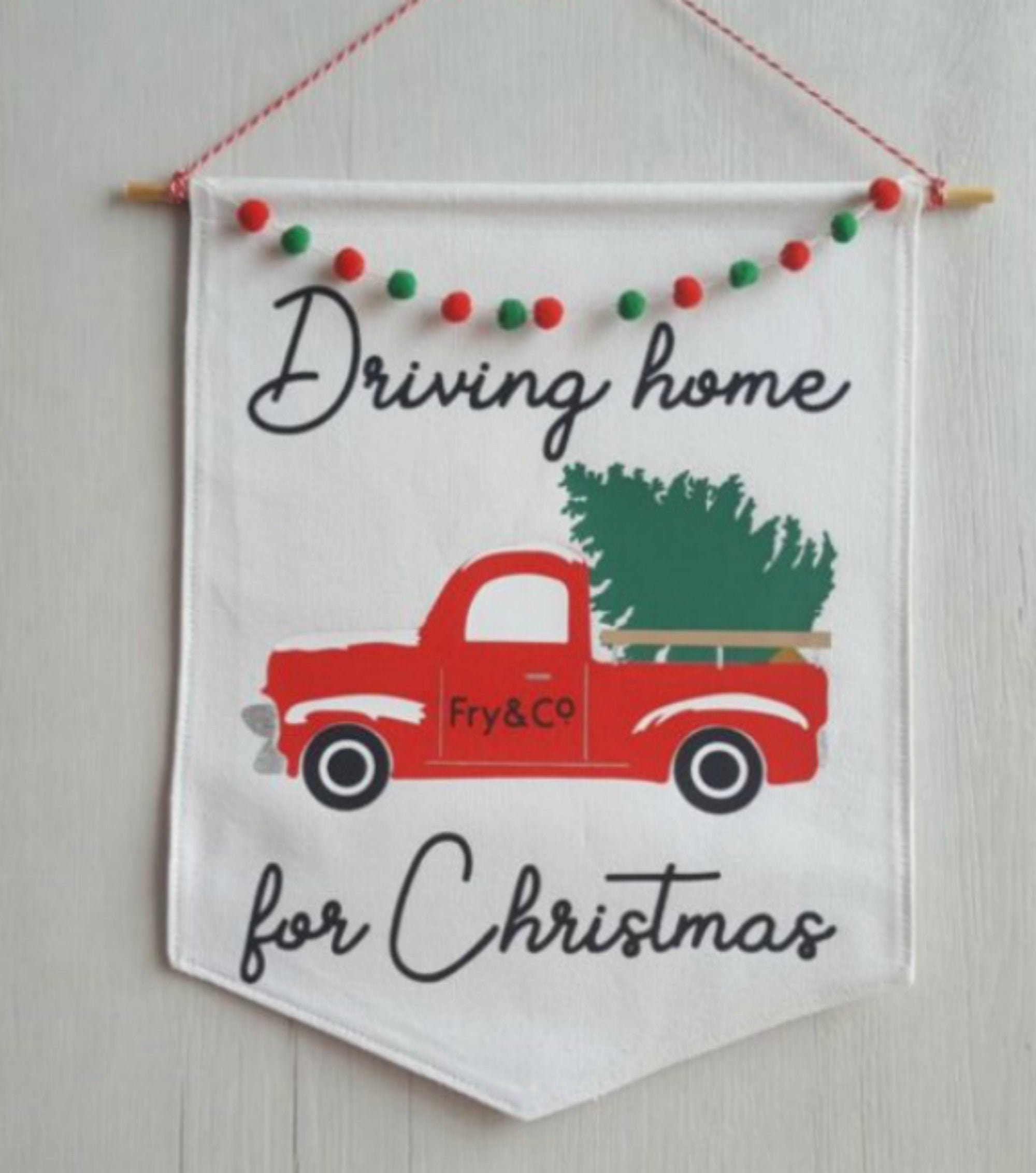research.unir.net Driving Home For Christmas Sign Handmade Plaque ...