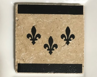 New Orleans Flag Tile Coasters