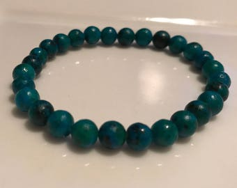 Teal Handmade Beaded Bracelet