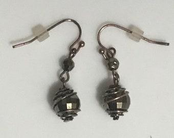 Copper Handmade Beaded Earrings