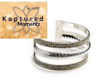 Multi Layer Stone Cuff Bracelet-READY TO SHIP!