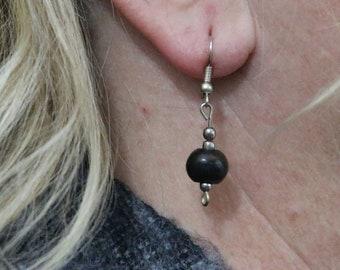 Made in Nepal - Eclectic Earring - Bohemian Earring - Yak Bone Earring - Simple Yak Bone Bead