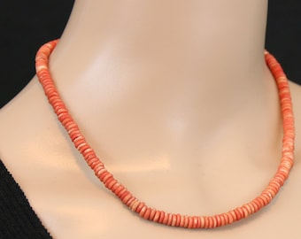 Made in Nepal - Tibetan Necklace - Bohemian Yak Bone Necklace - Yak Bone - Red