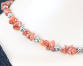 Made in Nepal - Jewelry - Stone and  Necklace - Smooth Natural Stone - Bracelet Match