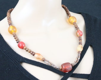 Made in Nepal - Jewelry - Stone and  Necklace - Large Stone Type and Wood