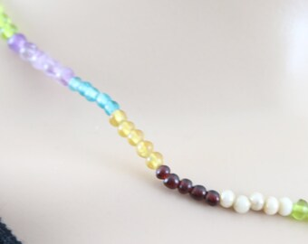 Made in Nepal - Jewelry - Glass Necklace - Multi-color Glass Beads