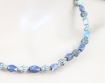 Made in Nepal - Jewelry - Stone and  Necklace - Sodalite Carved Stone