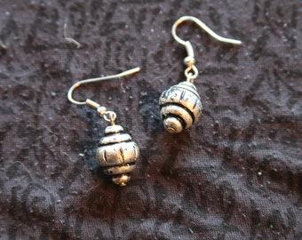 Made in Nepal - Eclectic Earring - Bohemian Earring - Silver Earring - Tibetan Silver Drop