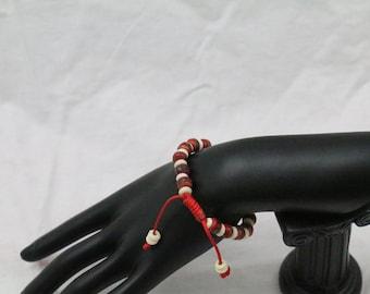 Made in Nepal - Red Yakbone - Tribal - Bohemian - Bracelet